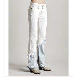 NWT R13 Vent Kick Double Shredded Hem Jeans